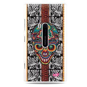 Cover teschio messicano azteca rigida bianca