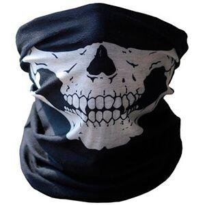 Maschera Bandana nera per collo e viso con teschio