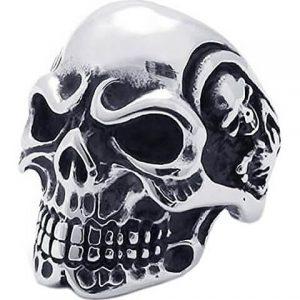 anello di cranio per uomo