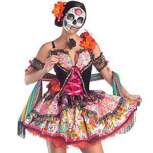 Costume sexy da donna con teschi messicani