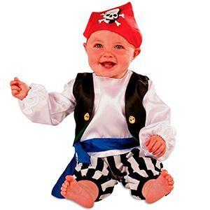 Costume da pirata con teschio sul foulard per neonato o bimbo piccolo