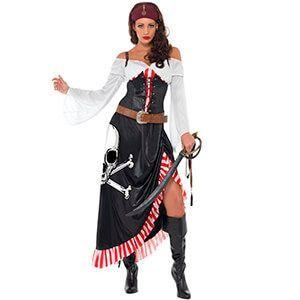 Costume da Teschio pirata da donna bucaniera