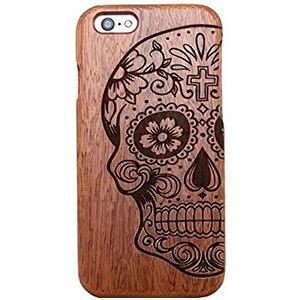 cover legno iphone 5 teschio messicano