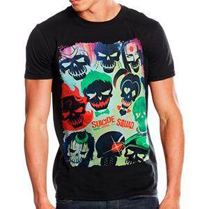 T-shirt da uomo di Suicide Squad con teschi