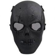 Maschera copriviso protettiva da softair a forma di teschio nero