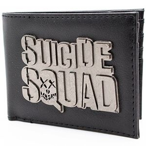 Portafoglio nero con il logo di Suicide Squad