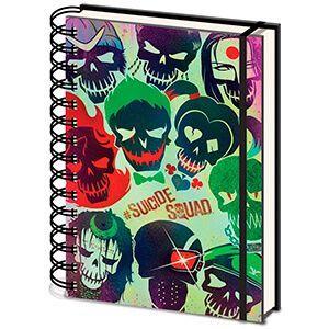 Quaderno a spirale con i teschi di Suicide Squad