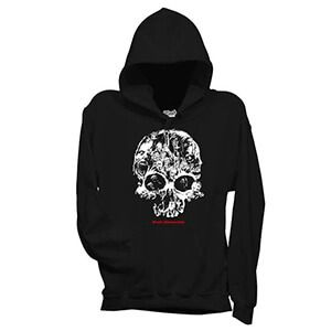 felpa con cappuccio uomo walking dead zombie skull