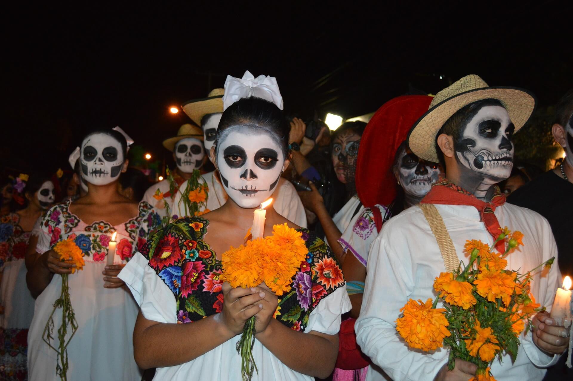Festeggiamenti del giorno dei morti in Messico