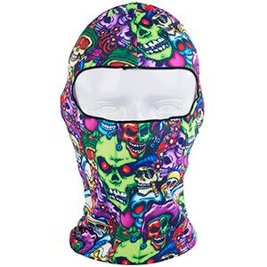 Passamontagna con teschi colorati e protezione raggi UV