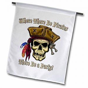 Bandiera Bianca con Teschio Pirata Jack Sparrow