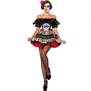 Travestimento con Teschio da Bambola messicana del Giorno dei Morti