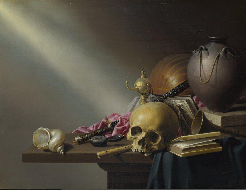 il teschio rappresentato nell'arte della vanitas