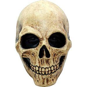Maschera da teschio a viso intera con finiture realistiche