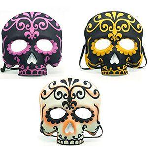 Maschera da teschio messicano a mezzo viso